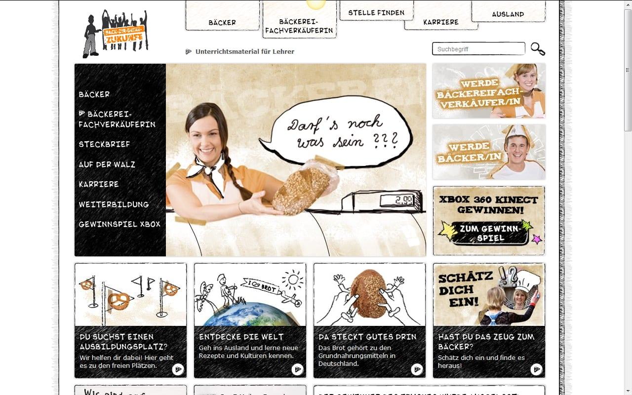 """Die Website """"Back dir deine Zukunft"""" des Bäckerhandwerks informiert über die Bäckerberufe"""