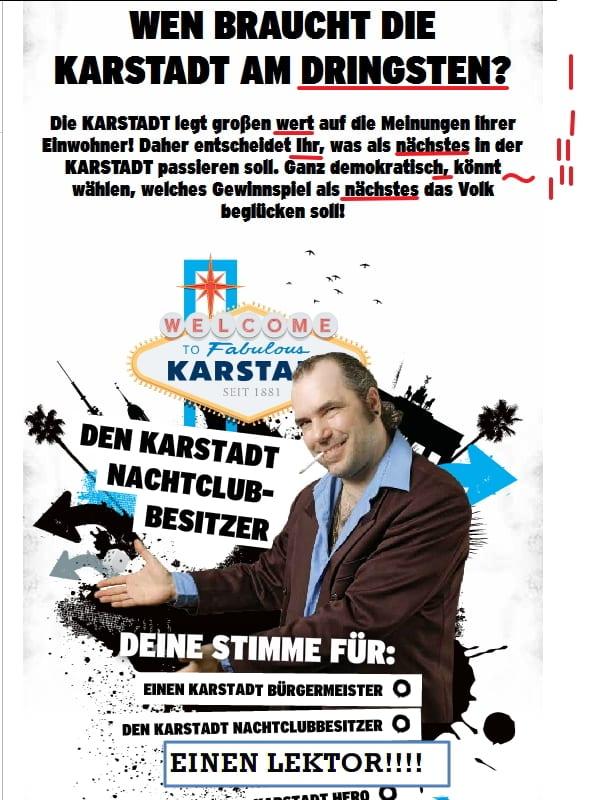 """Karstadt sucht einen neuen Mitbewohner. Bei sieben Rechtschreibfehlern lautet mein Tipp ganz klar: """"Die"""" Karstadt braucht einen Lektor"""