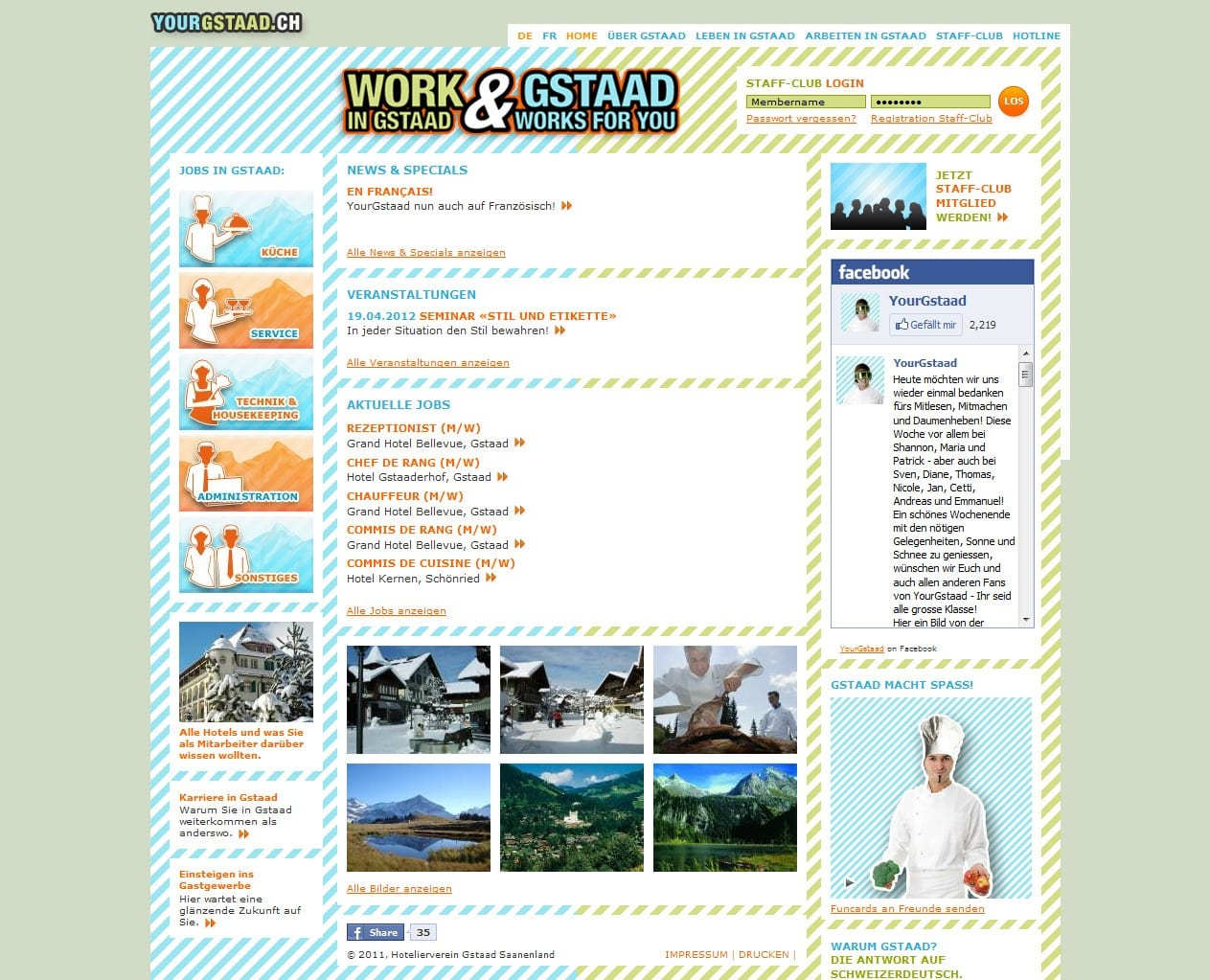 Work in Gstaad and Gstaad works for you