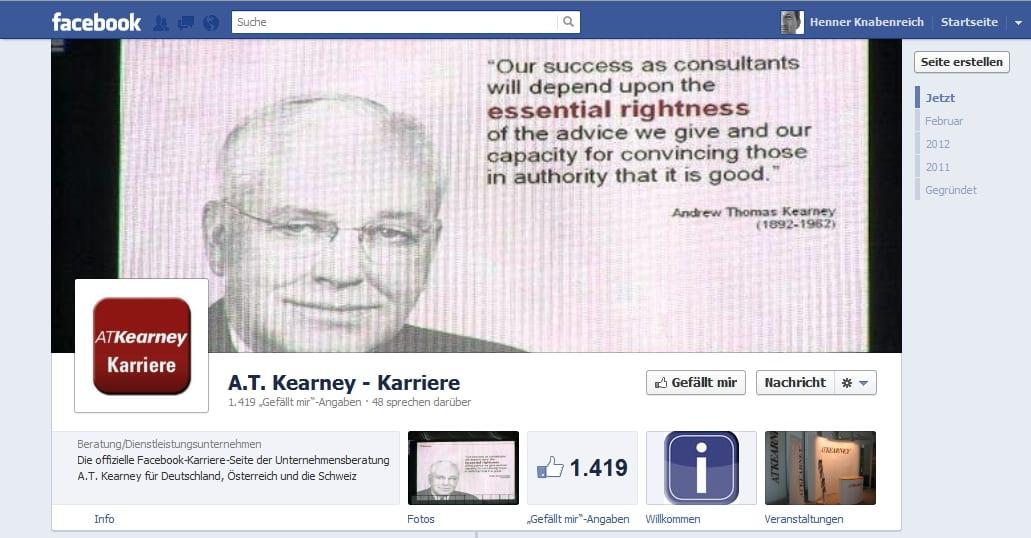 A. T. Kearney Karriere - einer der ersten mit der neuen Chronik
