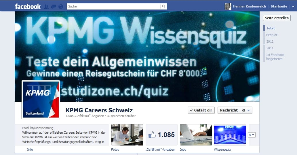 Was KPMG Schweiz hier macht, ist leider verboten, sieht aber trotzdem gut aus