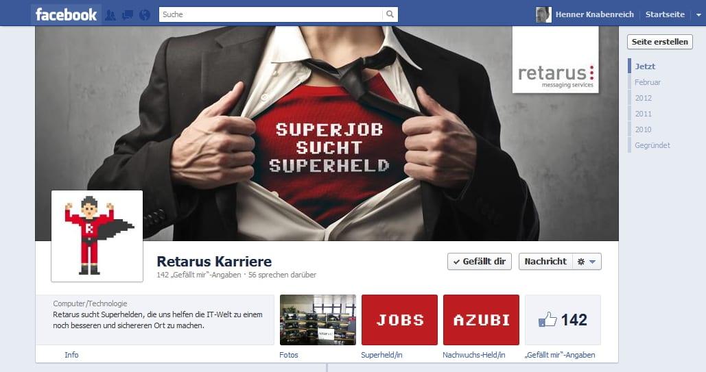 Retarus Karriere: Superjob sucht Superheld. Gefällt mir!