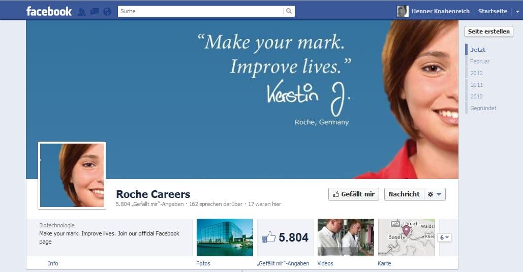 Kennen wir auch so von der Karriere-Website. Roche Careers.