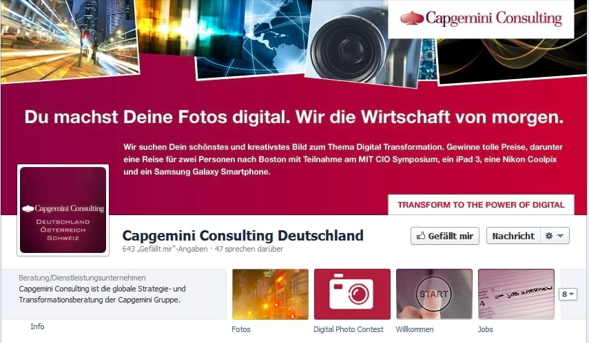 CapGemini Consulting: Handlungsaufforderung oder nicht?