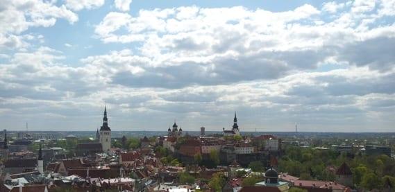 Blick von der Olai-Kirche über die Stadt