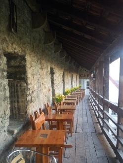 Dannebrog Cafe auf bzw. in der Stadtmauer