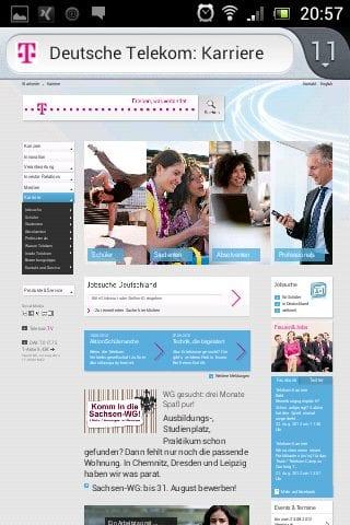 Mobile Karriere-Website Telekom