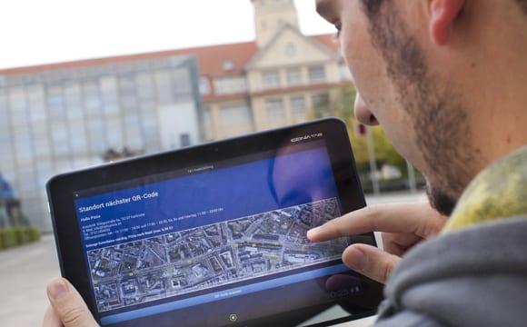 1&1 Codecaching - Schnitzeljagd mit Smartphone-App - Standortkarte - Bildquelle: 1&1/Young Targets