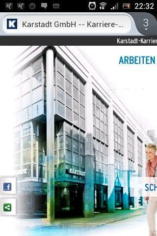 Karstadt Karriere - mobile Ansicht