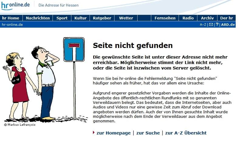 Karriere beim Hessischen Rundfunk - Anzeige der passenden Jobs. Theoretisch zumindest