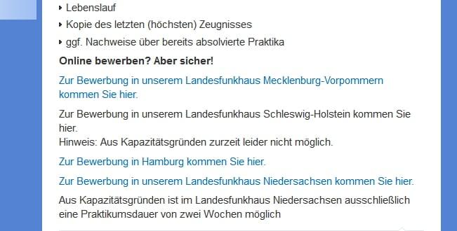 Karriere beim NDR. Online bewerben - aber sicher