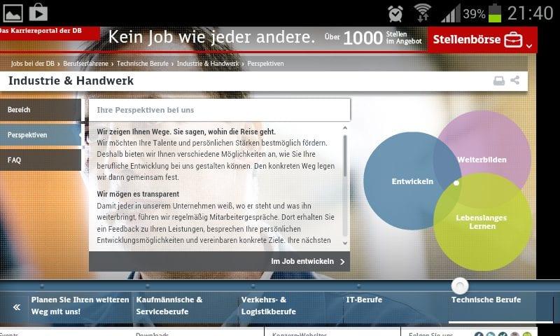 Personalmarketing: Das Karriere-Website-Desaster der Bahn in 24 Schritten: Infos, wo sind die Infos...