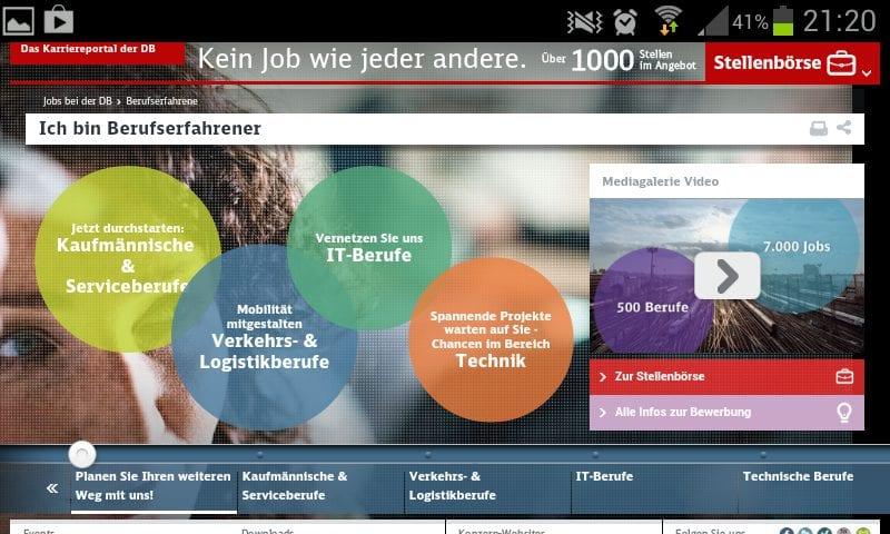Personalmarketing: Das Karriere-Website-Desaster der Bahn in 24 Schritten: alles so schön bunt hier