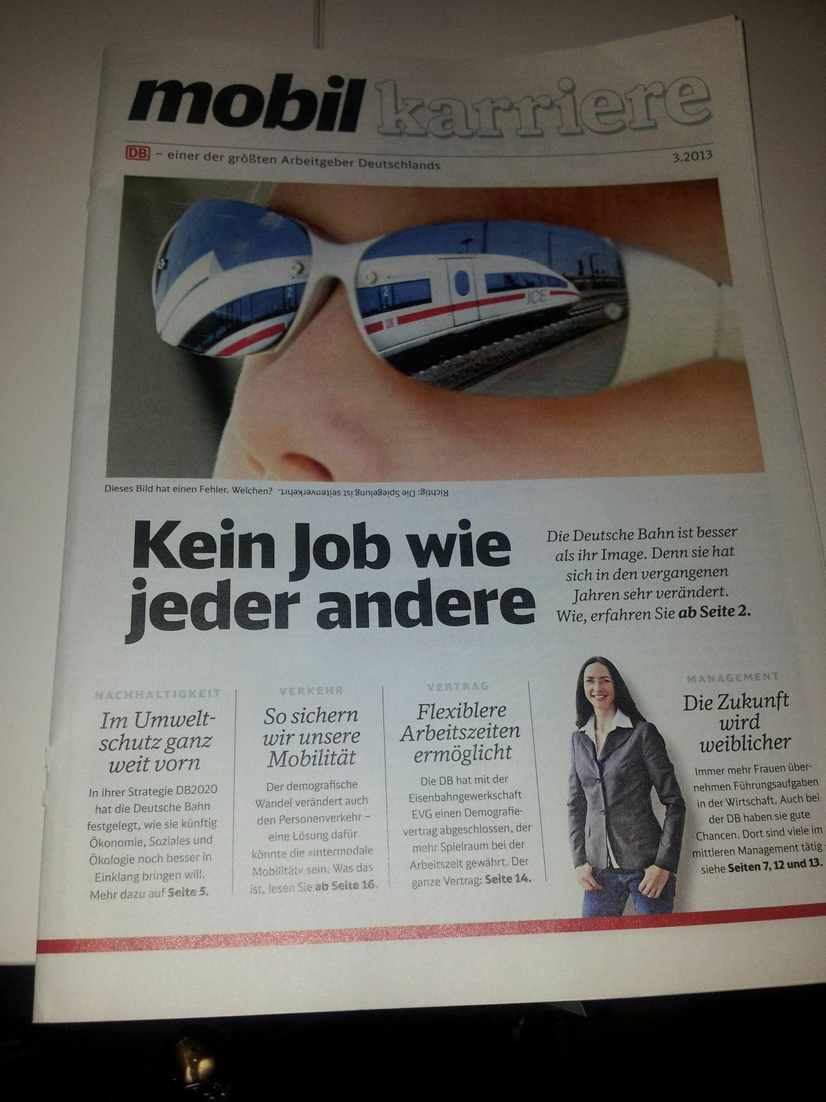 mobil karriere - Karrieremagazin der DB Deutsche Bahn