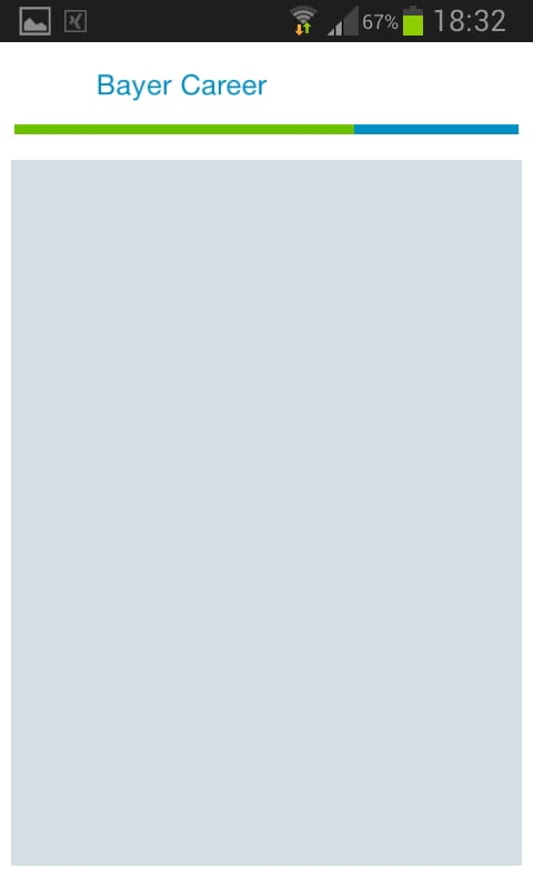 Bayer Karriere App - Tweets- welche Tweets - Verweis auf Twitter zeigt leeren Bildschirm