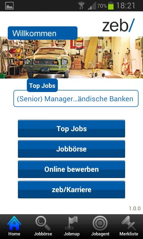 Mobile Job App von zeb - KFZ-Werkstatt oder Unternehmensberatung?