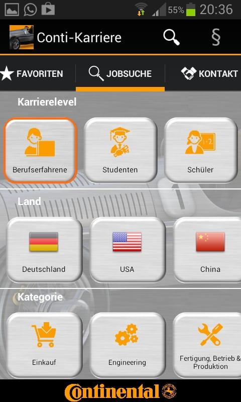 Mobile Recruiting mit der Job App von Continental - Intuitiv geht anders