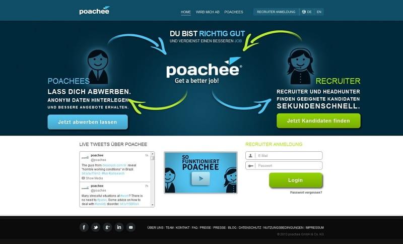 poachee_com: Bessere Job Angebote kostenlos und anonym bekommen