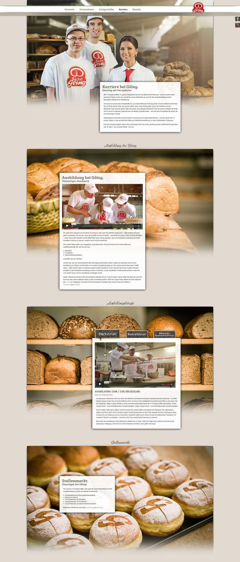 Ausbildungsmarketing im Handwerk - Willkommen bei Bäcker Göing