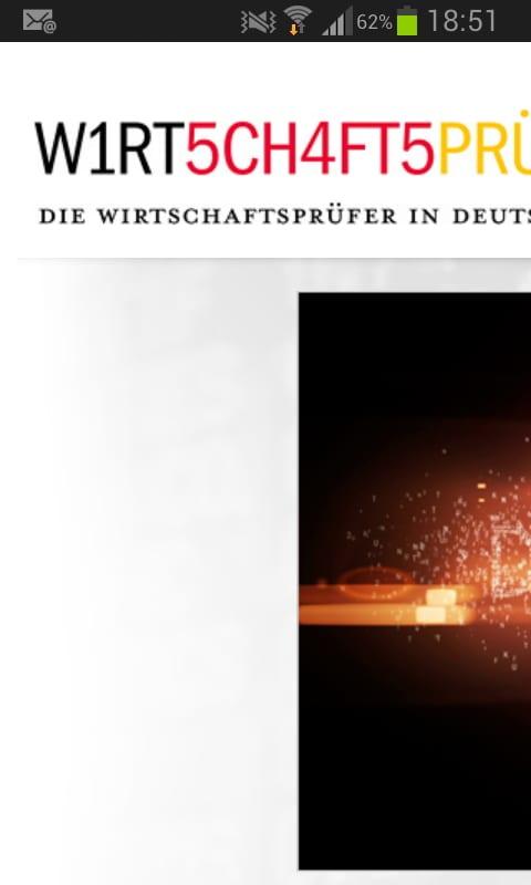 Mobile Ansicht der Website wirtschaftsprüfer.de