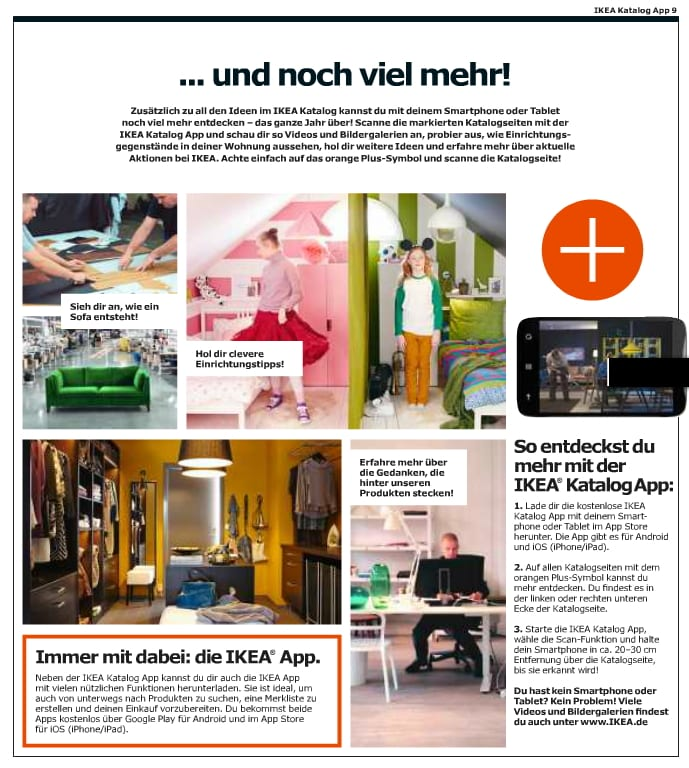Augmented Reality im IKEA Katalog