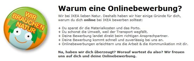 Gründe für eine Online-Bewerbung auf der IKEA Karriereseite