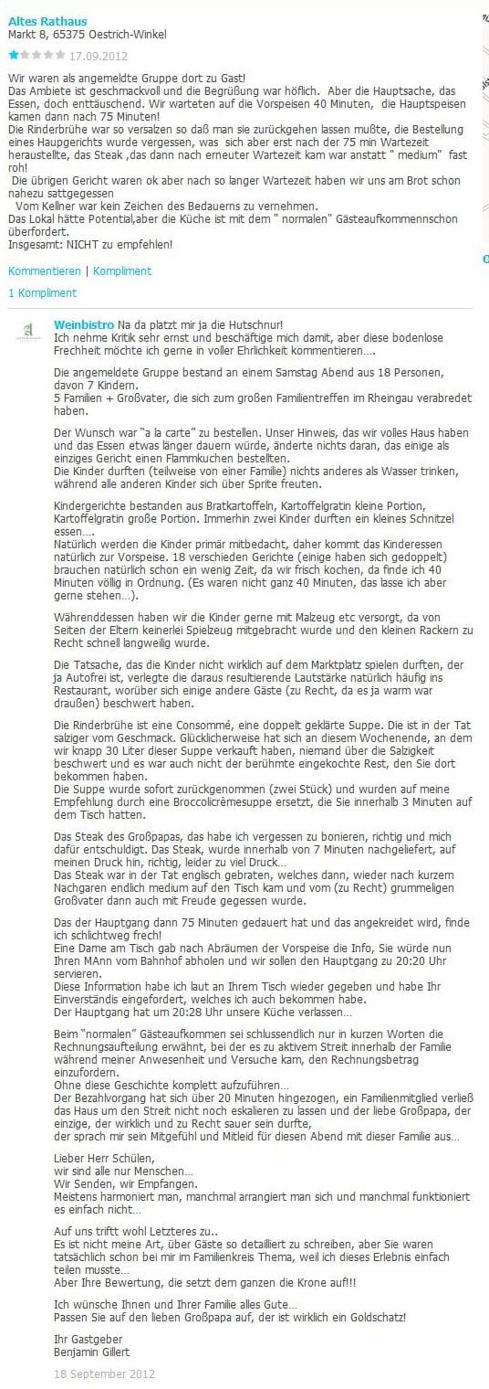Aus Bewertungen bei Qype für kununu lernen - Quelle Qype.de