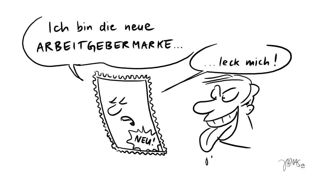 Leck mich Arbeitgebermarke - Copyright by Joonas