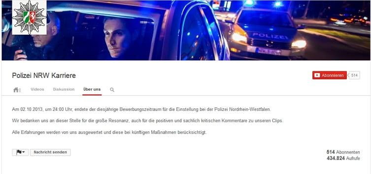 Polizei NRW - Videos sind futsch