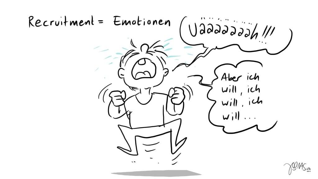 Recruitment bedeutet Emotionen