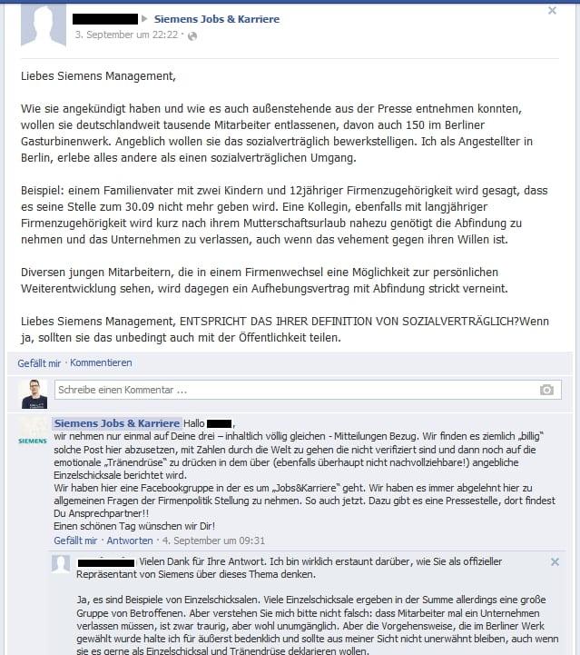 Kommunikation auf Facebook Karriereseiten - so nicht!