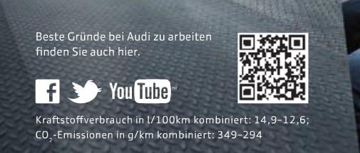 Ein Logo allein macht wenig Sinn - Personalmarketing-Anzeige von Audi