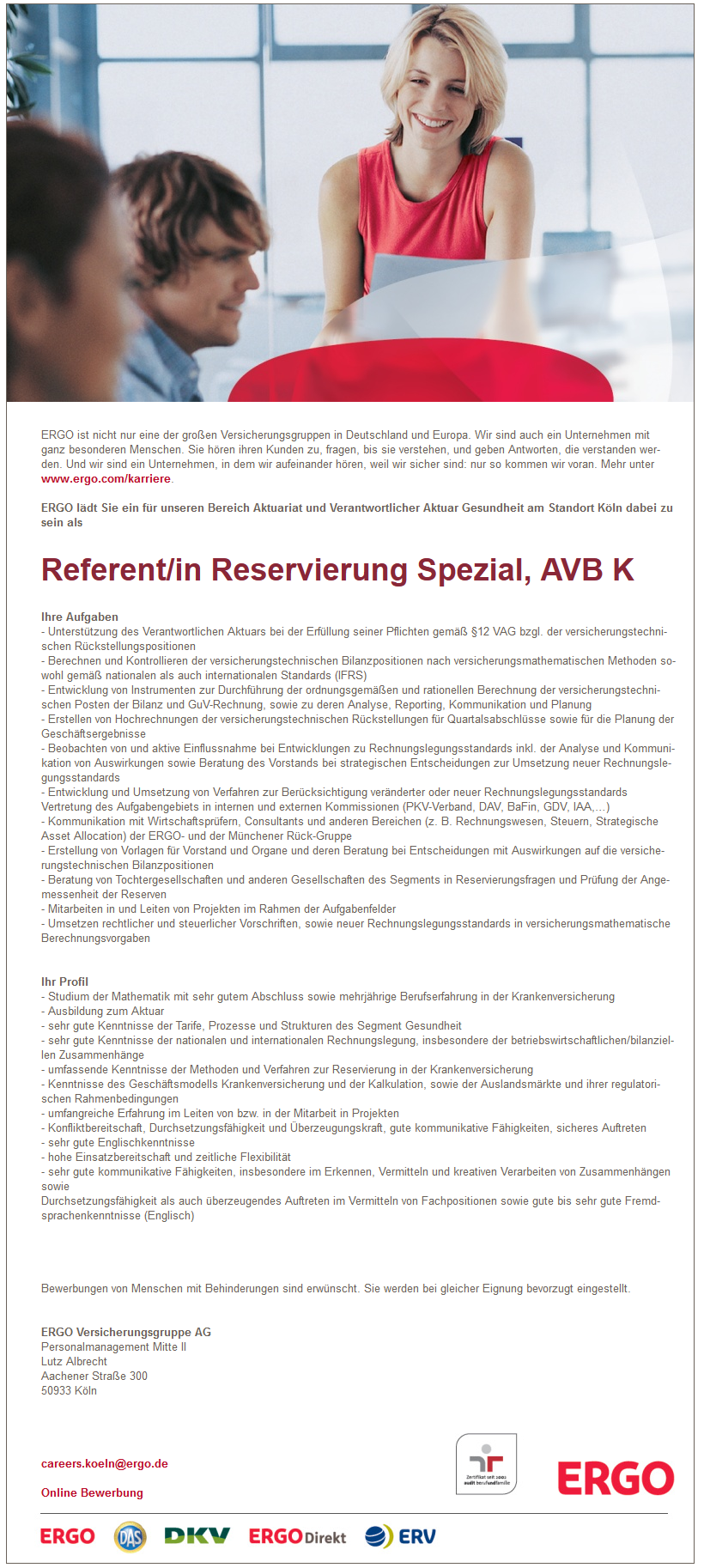 Referent Reservierung Spezial AVB K - nee, is klar