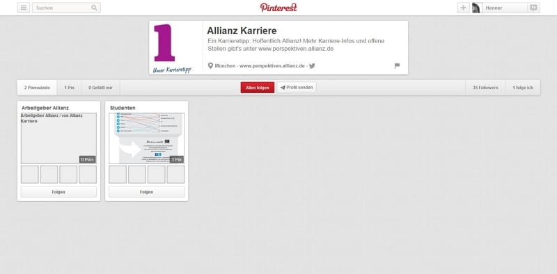 Allianz Karriere - Goldene Runkelrübe Social Media