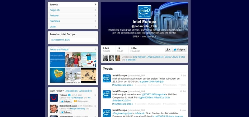Intel Jobs - kein Dialog, kein Team