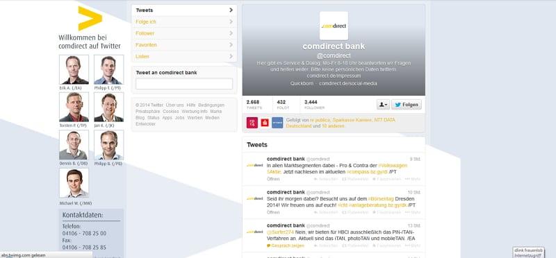 comdirect Bank - kein Karrierechannel, aber Team UND Dialog