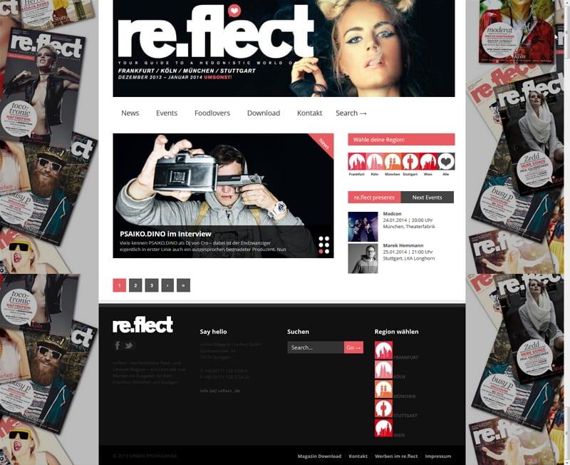 reflect.de - eine Rubrik für Jobs sucht man vergeblich. Oder?