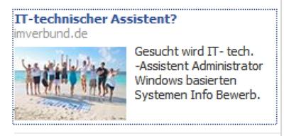 Gesucht wird IT- tech. -Assistent Administrator Windows basierten Systemen Info Bewerb.