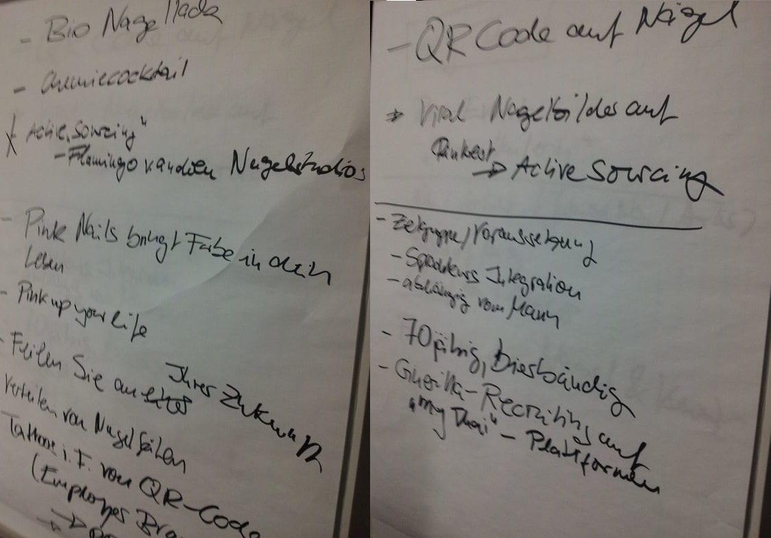 HR Barcamp 2014: Heißer Scheiß für Personaler und das total verrückte HR-Taxi 1 HR Barcamp Vorschläge für Pink Nails rotated e1620056667521