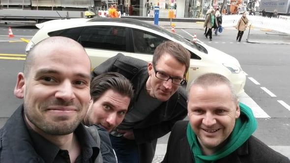 HR Barcamp - das Team des total verrückten HR-Taxis