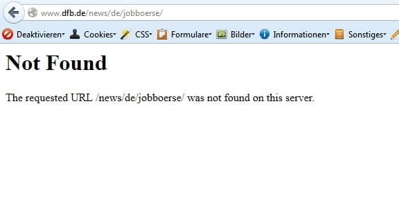 Not found - eine Jobbörse gibt es nicht