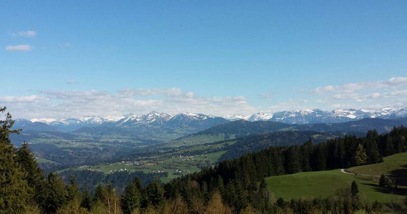 Alpenpanorama vom Hirschberg aus
