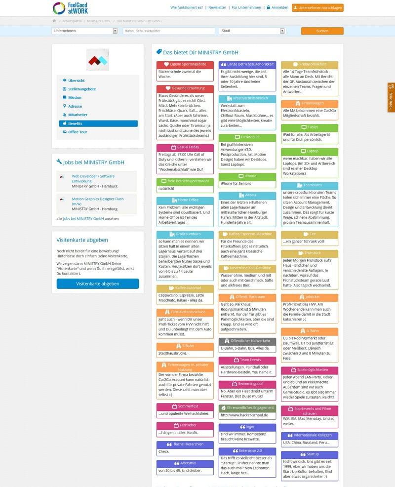 feelgood@work: Benefits im Unternehmen am Beispiel der Ministry GmbH