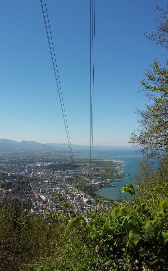 Blick vom Gschliefweg auf Bregenz