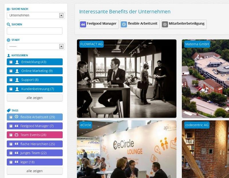 Suche nach Benefits und Kategorien - feelgood@work