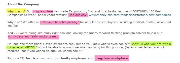 Unternehmenskultur und Benefits bei Zappos eher Fehlanzeige