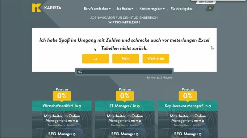 karista - Berufsorientierung mit Jobnavigator