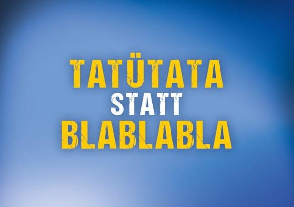 Personalmarketing der Polizei Sachsen mit Postkarten - Tatütata statt Blablabla