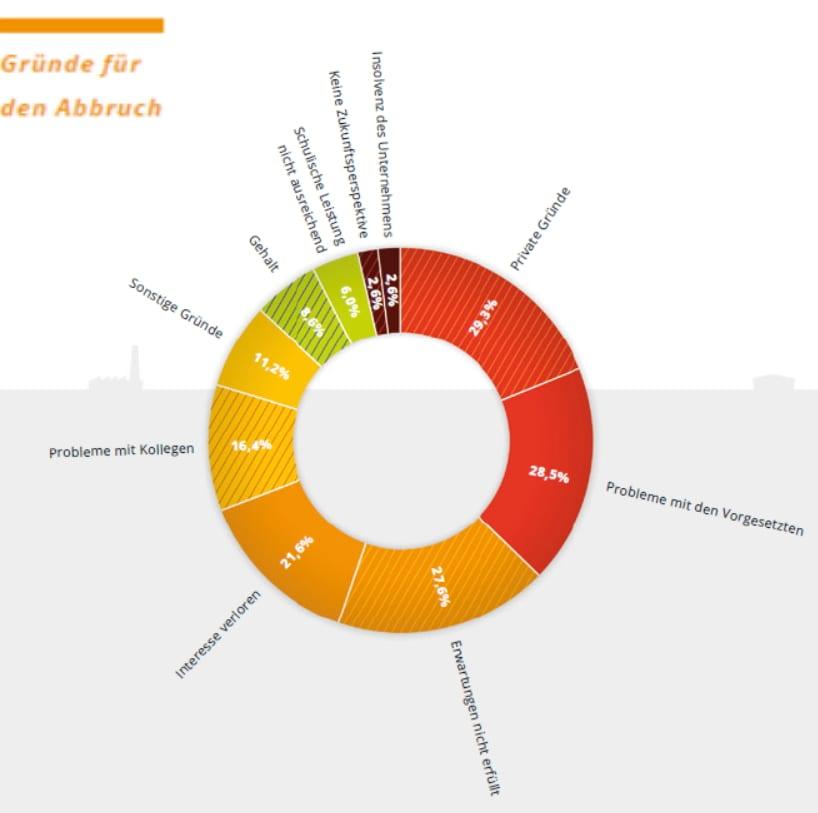 Ausbildungsabbrüche - warum? Quelle: azubi-report 2014