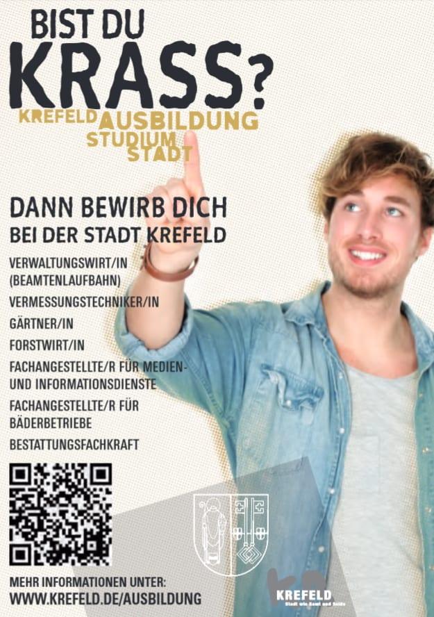Ausbildungsmarketing bei der Stadt Krefeld - Bist du krass?-Kampagne